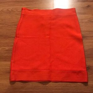 BCBG MaxAzria fitted orange skirt